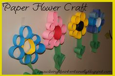 Simple, beautiful paper flower craft for kids #preschool #spring #flowers