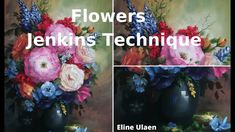 Timelapse Oil Painting Flowers Quick Time, Jenkins Technique by Dutch ar. Gary Jenkins, Oil Painting Flowers, Bob Ross, Painting Tutorials, Style, Stylus