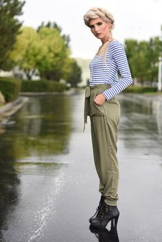 Ultimate comfort becomes undeniably chic in these rayon jogger pants. The olive color is a perfect transition from fall to winter and the pull-on styling, elastic hems, back welt pockets, and front patch pockets offer sophisticated detail.