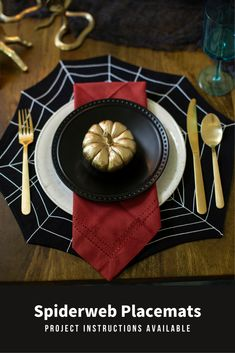 Get ready to devour a frightfully delightful feast this Halloween season. These spiderweb placements are created with a bobbin work technique and add a perfect flair to your table decor. 🕸️ // Project instructions are available through the link.