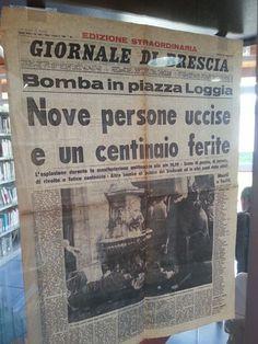 La strage di Piazza Loggia. edizione straordinaria originale del Giornale di Brescia del 28 maggio 1974 #TuscanyAgriturismoGiratola
