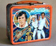 Vintage 1979 Aladdin Buck Rogers Metal Lunch Box Lunchbox TV Show