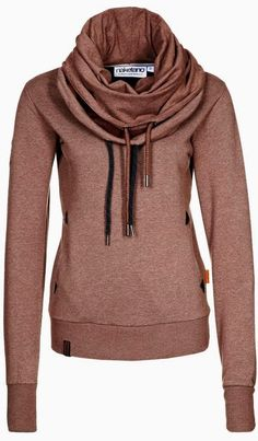 Long Sleeves Neck Layer Hoodie