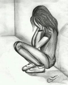 sad girl pencil sketch depression drawings in pencil Crying Girl Sketch, Crying Girl Drawing, Cry Drawing, Drawing Room, Sad Drawings, Couple Drawings, Easy Drawings Of Girls, Pencil Drawings Of Girls, Cartoon Drawings