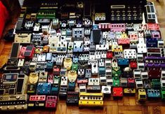 guitar effects pedal collection