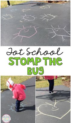 Stomp the Bug is the perfect outdoor game for insect/bug themed movement in tot school, preschool, or kindergarten.