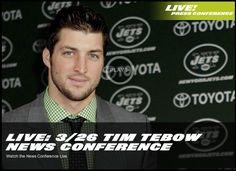 Tebow's 1st NY Jet Press Conference!