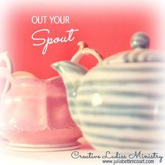 Ladies Tea Devotional: Out Your Spout Tea Party Theme, Christian Devotions, Event Themes, Women's Ministry, Ministry Ideas, Tea Stains, Christmas Tea, Bible Lessons, Knowing God