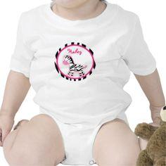 Sweet pink Zebra Baby Birthday T-Shirt