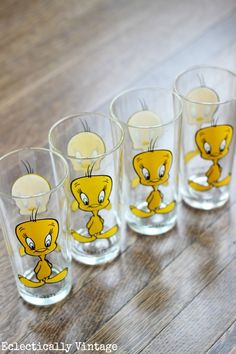 Vintage Tweety Bird Glasses eclecticallyvintage.com @eclecticallyvintage