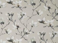 Saphira Quartz | Saphira | Printed Cotton-Satin | Romo Fabrics | Designer Fabrics & Wallcoverings, Upholstery Fabrics
