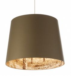 Nicolette Brunklaus' Shady Tree light features a forest print on the inside of the lampshade.