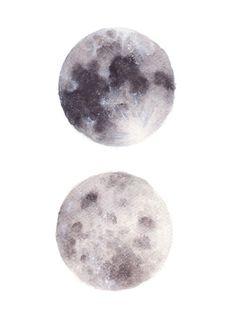 moon watercolor - Google 搜尋