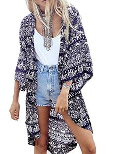 Choies Women's Chiffon Dark Blue Tribe Pattern 3/4 Sleeve Loose Kimono - CONTINUE @ http://www.ilikeboutique.com/boutique/choies-womens-chiffon-dark-blue-tribe-pattern-34-sleeve-loose-kimono/?a=9883