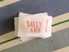Create your own clothing tags - DIY clothing tags - Sally Ann