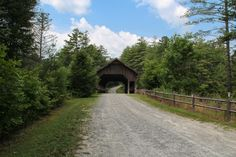 Covered Bridge Above High Falls in DuPont State Forest. This is Buck Forest Road.