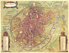 Map of Brussels, 1657