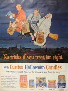 Vintage Halloween Ad ~ Curtiss Halloween Candies ©1962