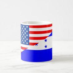 united states america honduras half flag usa count coffee mug All Country Flags, Usa Country, States America, United States, Honduras Flag, National Flag, Photo Mugs, Coffee Mugs, Monogram