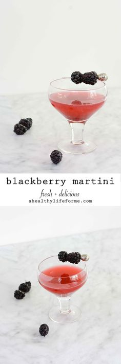 This Blackberry Martini looks delicious.