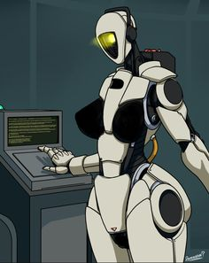 Read GLaDOS x Robot!Reader from the story Various Female Villains x Male Reader Lemons by AnimeCharaGenocidal (Astronaut Anime Chara (Era with reads. Thicc Anime, Kawaii Anime, Character Art, Character Design, Warframe Art, Female Villains, Arte Robot, Robot Girl, Alien Vs Predator