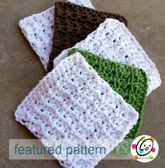 Crocheted wash and dish cloths are wonderful! They are easy to make, great to use and make awesome gifts. Every year I wish I had a stock pile to use for last minute gifts. SO, as part of my quest ...