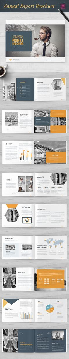 Annual Report Brochure Template InDesign INDD - 20 Pages A4 - sample internship report template