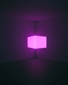 James Turrell - Afrum, Pale Pink projection, installation dimensions variable, © James Turrell, courtesy Pace Gallery / Photo by: Florian Holzherr James Turrell, Light Art Installation, Art Installations, Lights Artist, Mawa Design, Light And Space, Grid Design, Design Art, Land Art