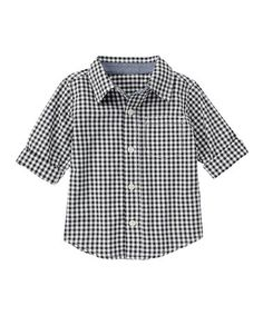 Love this Navy Gingham Button-Up - Infant, Toddler & Boys on #zulily! #zulilyfinds