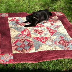My first quilt. Uur cat loves it!