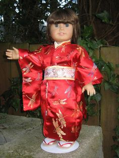 Japanese Kimono for your American Girl Doll by CarmelinaCreations, $37.00