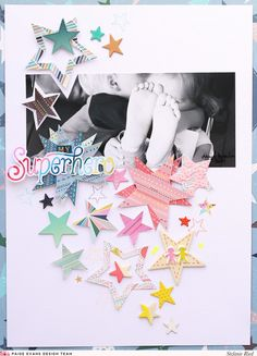 My newest collection with Pink Paislee is called Turn the Page and there is a repeating stars element throughout the line. I have LOVED seeing how fellow scrapbookers have used stars, stars, and more stars to create truly stunning layouts and cards! YOU & ME by Lorilei Murphy Lorilei layered like-colored stars that she fussy …