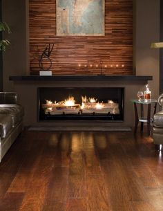Image result for low level horizontal fireplace