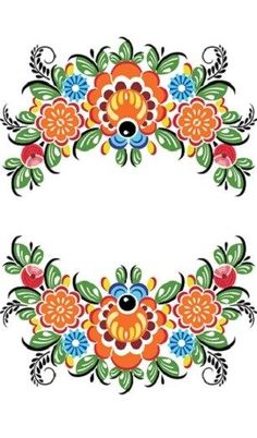 Folk Embroidery Ideas Folk Gorodets painting from Russia. Folk Art Flowers, Flower Art, Folk Embroidery, Embroidery Patterns, Illustration Inspiration, Folk Print, Polish Folk Art, Russian Folk Art, Scandinavian Folk Art