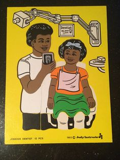 Vintage wooden puzzle dentist diversity African American 1980s on Etsy, $15.00 Black history