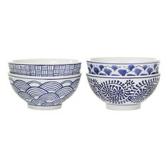 Bring stunning prints to the dinner table with this set of Sushi bowls from Pols Potten. Beautifully hand painted, these porcelain bowls feature intricate Japanese inspired designs. Perfect for adding