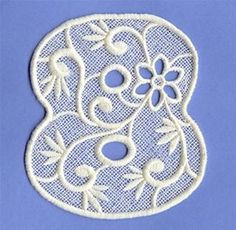 Machine Embroidery Designs at Embroidery Library! - Floral Lace Alphabet