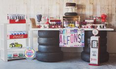 Get Thrown Back With This Blast-From-the-Past Vintage-Car-Themed Party