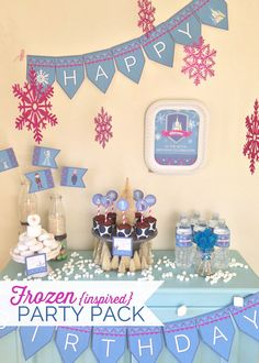 FROZEN {inspired} Party Pack  - Digital files - Party Supplies - INSTANT DOWNLOAD on Etsy, $16.99