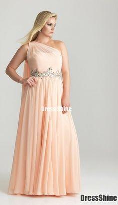 Pluz size bridesmaid gown