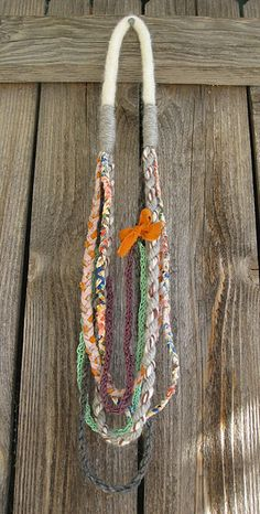 Easy fabric braided necklace