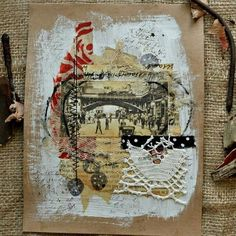 Few  mixed media collage pages. #mixedmediaart#collagepages#collage#Sigitascoffeestains#