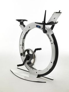 The 'Tonino Lamborghini Ciclotte' exercise bike, by Milanese designer Luca Schieppati. It elegantly combines concept, form and technology with epicycloids transmission system. Manufactured in carbon, steel and fibreglass by the Lamiflex Group, Bergamo ciclotte