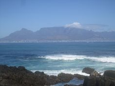 View of Cape Town, South Africa and Table Mountain from Robben Island. Feb. 2012.