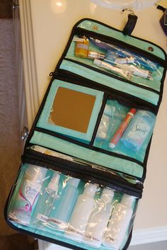 organized travel: toiletry bags