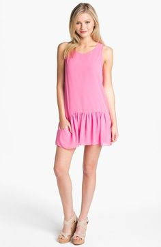 Lovers + Friends 'I Heart' Chiffon Drop Waist Dress {perfect end-of-summer dress}