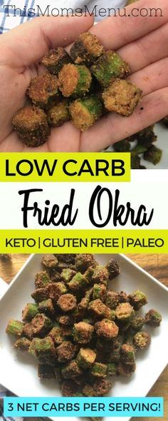 This is low carb twist on one of my favorite childhood recipes. If you've never had fried (AKA Southern Popcorn), then you are really missing out! It's a delicious side dish or snack and it's SO…More 12 Easy Keto Side Dish Ideas Healthy Recipes, Ketogenic Recipes, Low Carb Recipes, Diet Recipes, Keto Veggie Recipes, Keto Snacks, Dessert Recipes, Healthy Foods, Pork Rind Recipes