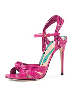 Gucci  Allie Knotted Leather Sandal