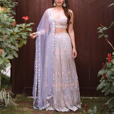 Sam in Kresha Bajaj lehenga Mehendi Outfits, Indian Bridal Outfits, Indian Bridal Fashion, Indian Fashion Dresses, Indian Designer Outfits, Bridal Dresses, Red Lehenga, Bridal Lehenga, Indian Anarkali