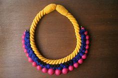 Collier imposant plastron collier corde bijoux par LESBIJOUXDEJOE, €50.00